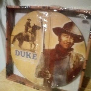 """John Wayne """"The Duke"""" Clock"""